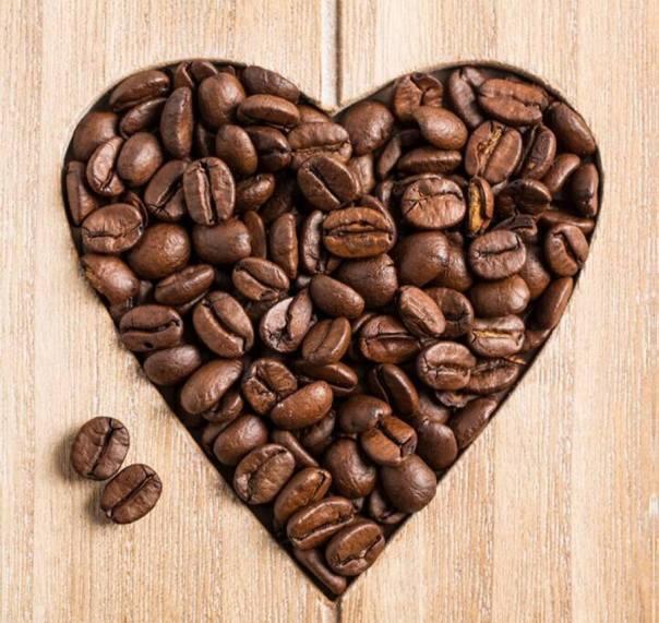Corazón en granos